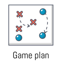 game plan icon cartoon style vector image vector image