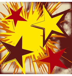 Grunge background of explosion star vector image