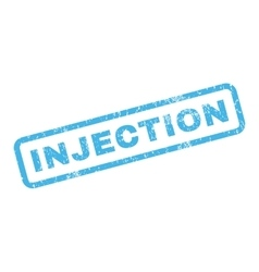 Injection rubber stamp vector