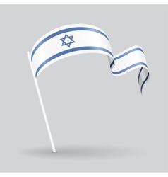 Israeli wavy flag vector image