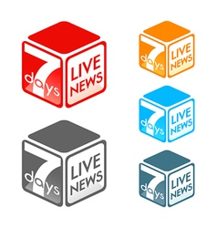 Live news symbol vector image vector image