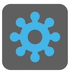 Mechanics gear rounded square icon vector