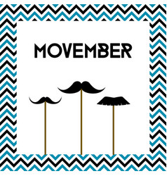 Movember mens health month cancer awareness vector