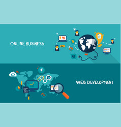 online business and web development vector image vector image