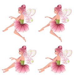 Pink Floral Fairy2 vector image vector image