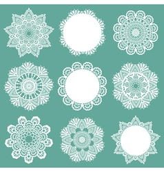 Set of lace napkins vector