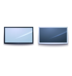 set of smart tv icons dark and light tv screen vector image vector image