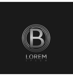 Silver b letter logo vector