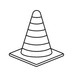 Striped cone icon under construction design vector
