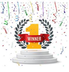 Winner number one background vector image