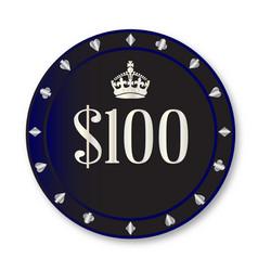 100 dollar chip vector