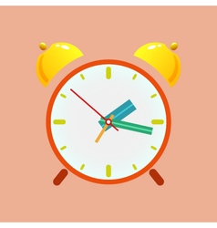 Alarm clock isolated on orange background vector