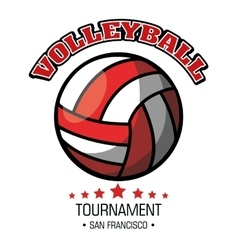 Volleyball sport ball emblem vector