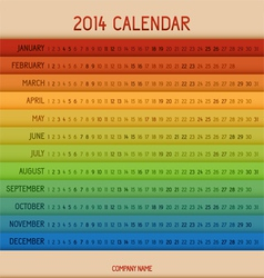Full color 2014 calendar vector
