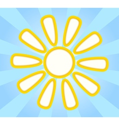 Abstract yellow paper sun vector
