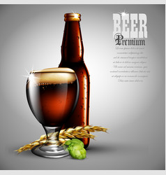 Beer advertising design highly realistic with vector