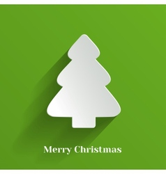 Creative white christmas tree vector