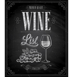 wine chalk vector image