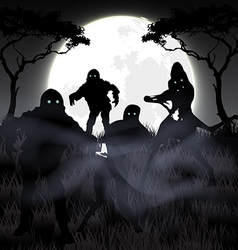 Zombie night vector