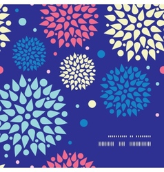 Colorful bursts frame corner pattern background vector