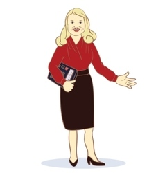 Accountant Featuring a Female vector image
