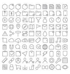 Universal interface icons set vector