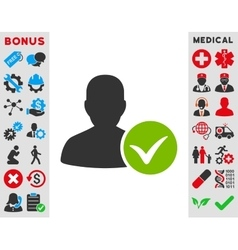 Patient ok icon vector