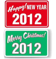 Merry christmas happy new year 2012 retail store w vector