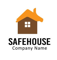 Safe house design vector