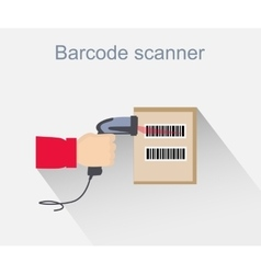 Barcode scanner icon design style vector