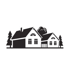 Black house vector
