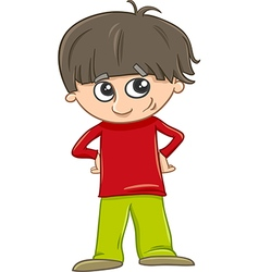 Funny boy cartoon vector
