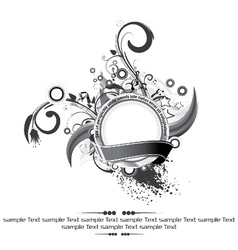 label with floral vector image