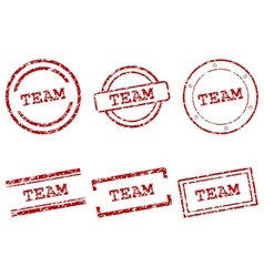 Team stamps vector