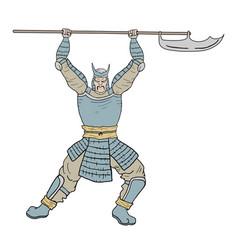 armor samurai vector image