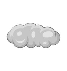 Cloud icon black monochrome style vector