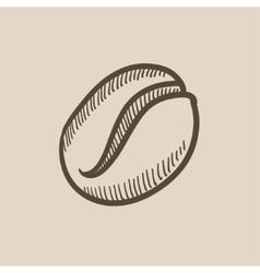 Coffee bean sketch icon vector image