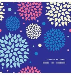colorful bursts frame corner pattern background vector image