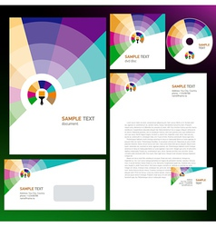 Creative corporate identity colored brush vector