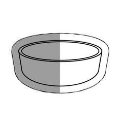 dish kitchen isolated icon vector image vector image