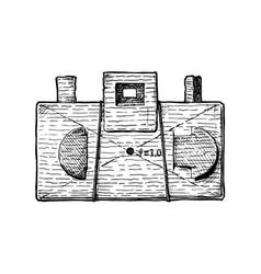 diy pinhole camera vector image vector image