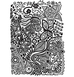doodle background vector image vector image