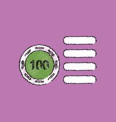 Flat shading style icon casino stuff chip vector