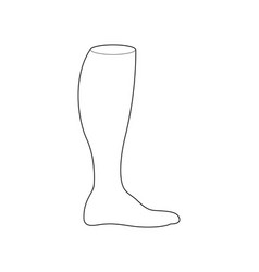Football socks for design sports clothing line vector