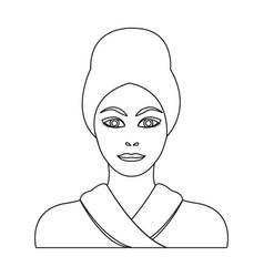 Girl single icon in outline stylegirl vector