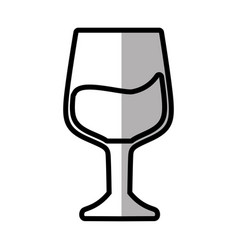 Glass cup drink outline vector