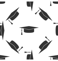Graduation cap icon pattern vector