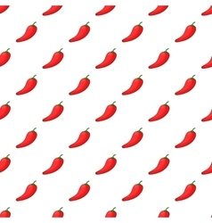 Hot chili pepper pattern cartoon style vector image