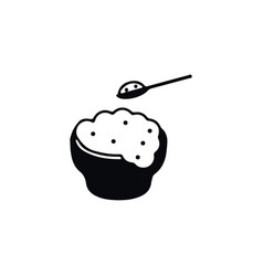 isolated eating icon rice element can be vector image