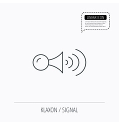 Klaxon signal icon Car horn sign vector image